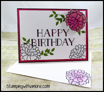Stampingwithamore Happy Birthday Technique Card