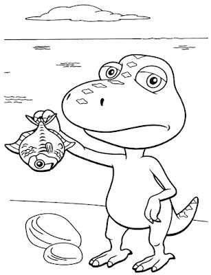 Gambar Mewarnai Dinosaurus - 8