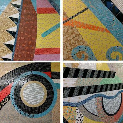 Southampton station mosaic detail