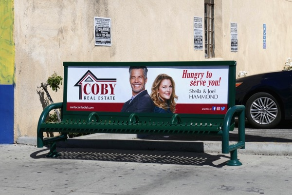 Santa Clarita Diet 2 Coby Real Estate bench ad