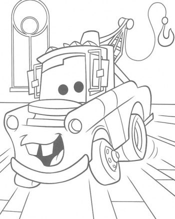 coloring pages cars kids printable | 6 Free Printable Disney Cars Tow Mater Coloring Pages