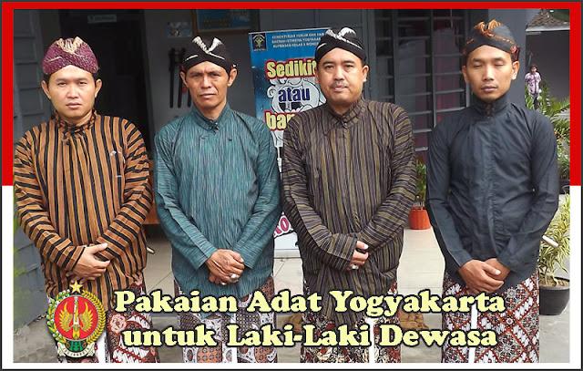Gambar Pakaian Adat Yogyakarta untuk Laki-Laki Dewasa