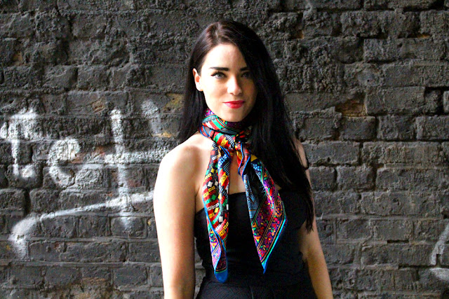 CharmChuri silk scarves - London luxury scarf designer - fashion blogger Emma Louise Layla