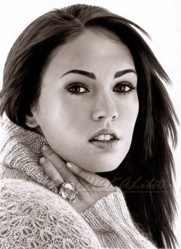 10-Megan-Fox-Kanisa-A-Lilith-Drawings-of-Actors-&-Celebrities-www-designstack-co