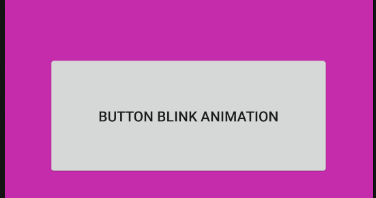 android - Button blink fade in fade out animation
