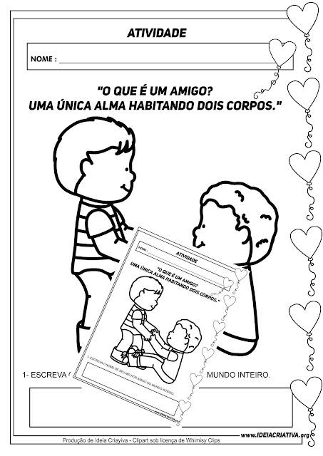 Atividade Dia do Amigo para Educação Infantil