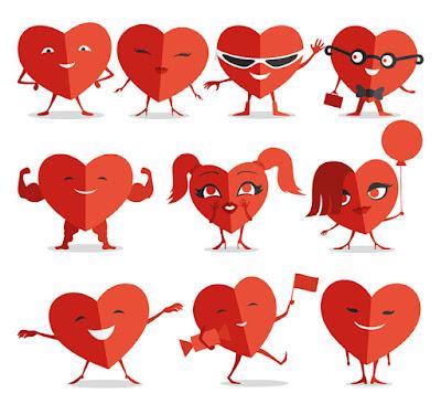Corazones rojos para el día de san valentin