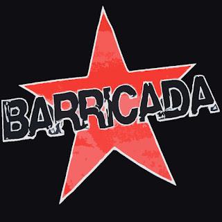 Logo Barricada, texto con estrella de cinco puntas, roja