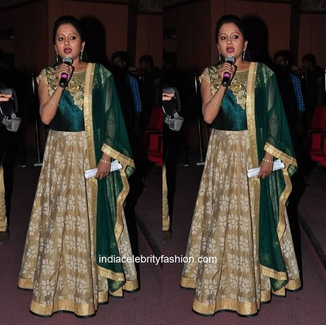 Suma Kanakala in Floor Length Anarkali