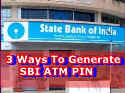 3 ways to generate SBI ATM PIN