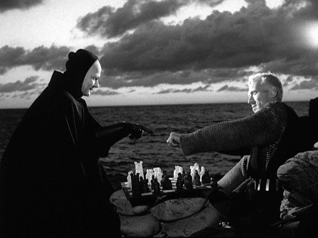 "Playing chess with Death. Max von Sydow in Ingmar Bergman's ""Seventh Seal"" (1957)"