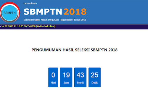 Website alternatif pengumuman SBMPTN 2018