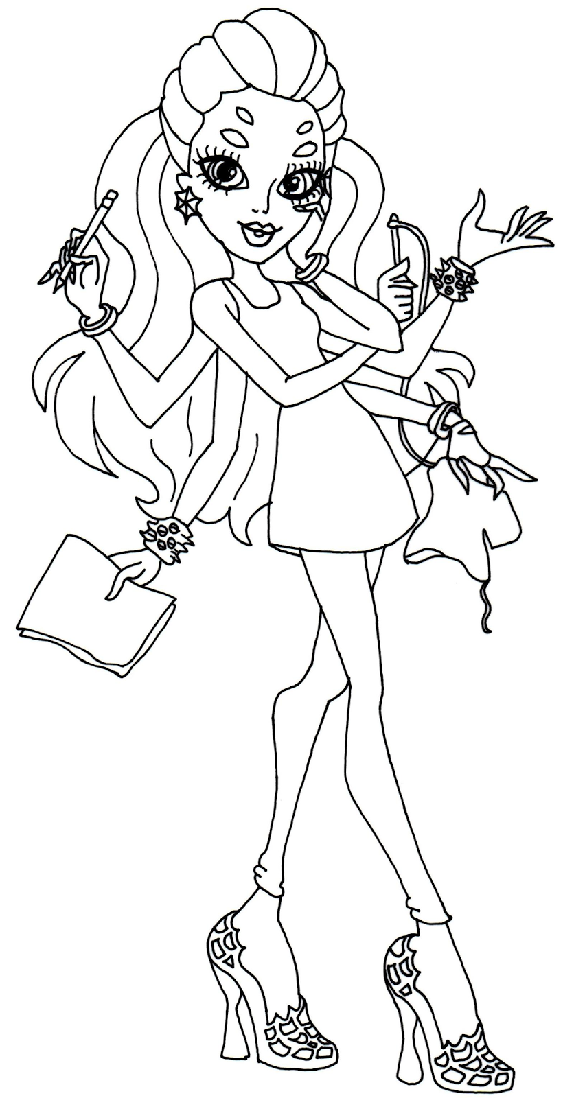 coloring pages monster high venus dudeindisneycom - Coloring Pages Monster High Venus