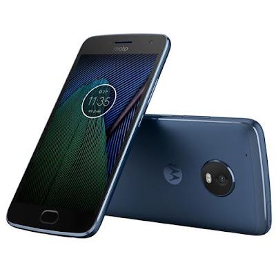 "Smartphone Motorola Moto G5 Plus Azul com  Tela 5.2"" Android 7.0 Processador Octa-Core"