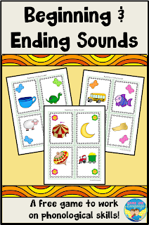 Build your kids' pre-reading skills with this free, fun sound awareness game!