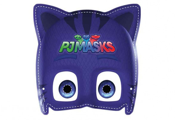 Máscara de Super héroes en Pijamas para Imprimir Gratis.