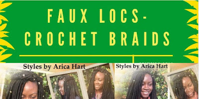 Picture of a faux locs crochet braid hair style