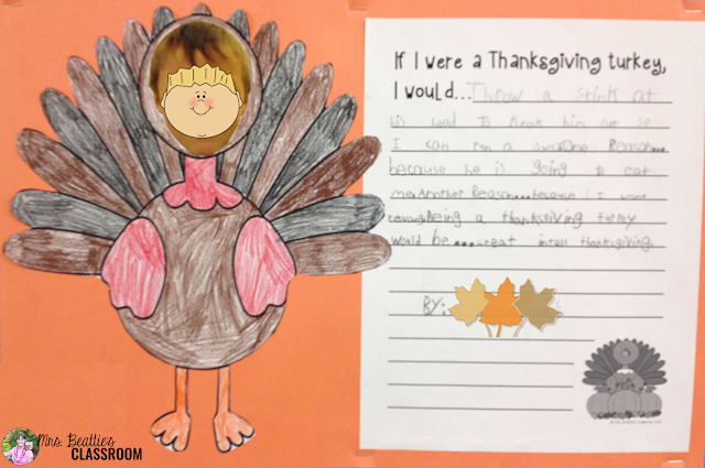 What would it BE like to be the Thanksgiving turkey? Let your students' imaginations run wild with this fun writing and art activity! This is the perfect activity for the days leading up to Thanksgiving break!