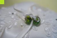 Ringe binden: Hochzeit Ringkissen mit Satin Bogen 21cm* 21cm