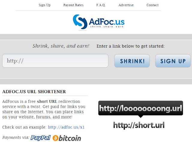 Adfoc.us url link shortner