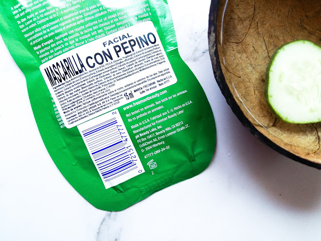 peel off mask cucumber freeman review mamá fashionista blog