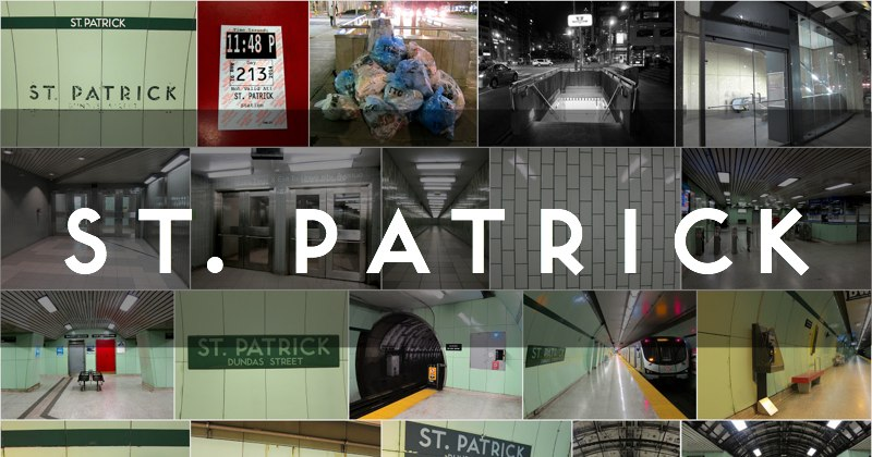 St. Patrick subway station photo gallery