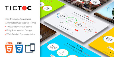 tictoc v1 2 coming soon countdown template free html templates
