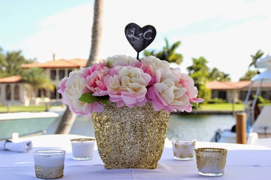 Glitter wedding table decorations centerpieces Chic Bridal Shower