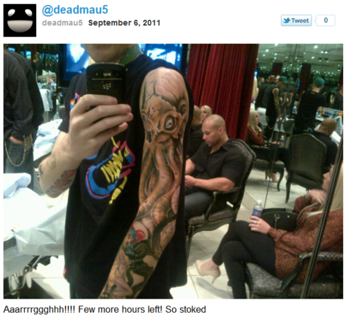 Seints Preserve Us!: Deadmau5's New Tattoo
