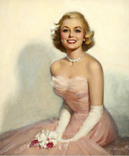 Vintage Paintings of Beautiful Woman's 19