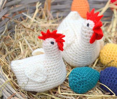 amigurumi crochet Easter Chick & Chicken