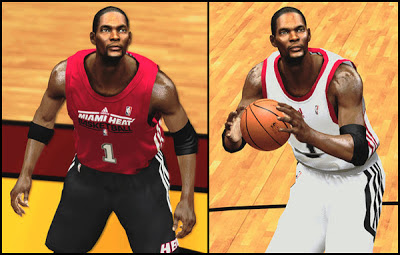 NBA 2K13 Chris Bosh Realistic Cyberface Patch