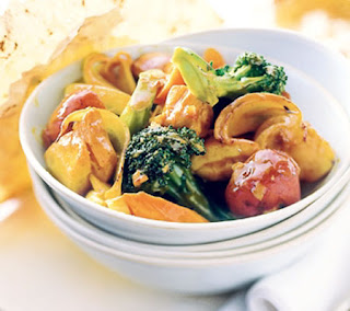 curried chicken and vegetables recipe