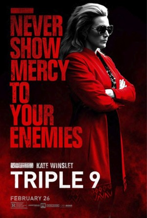 Poster Of Triple 9 2016 English 350MB BRRip 720p ESubs HEVC Free Download Watch Online Worldfree4u