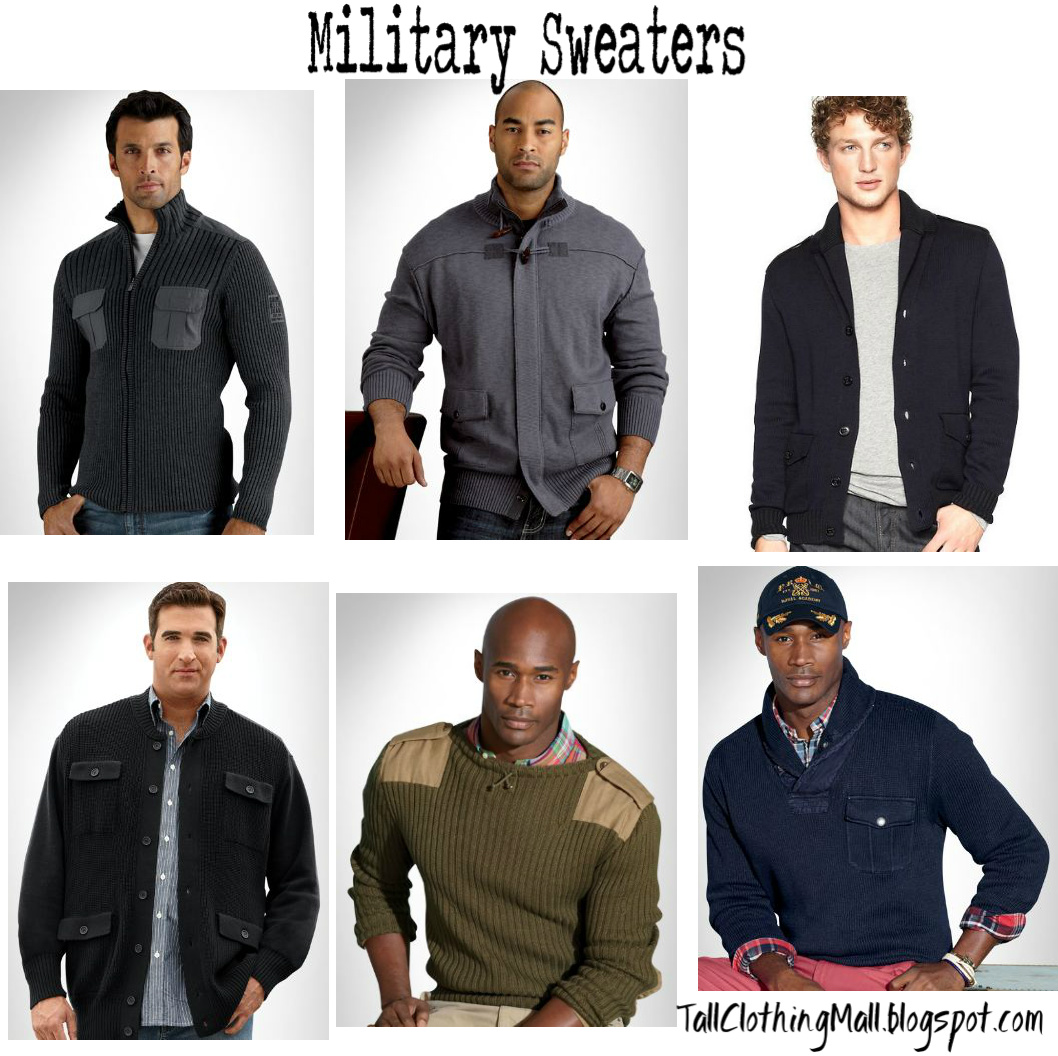 6334146b3a Big & Tall Military Inspired Sweaters - Tall Clothing Mall