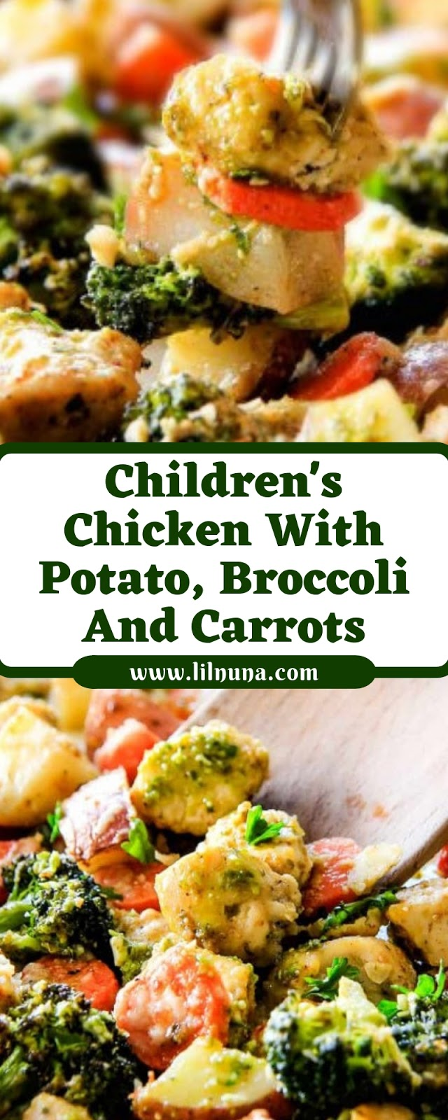 Children's Chicken With Potato, Broccoli And Carrots