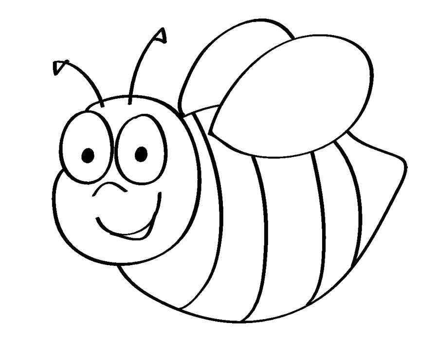 gambar mewarnai lebah untuk anak paud dan tk aneka