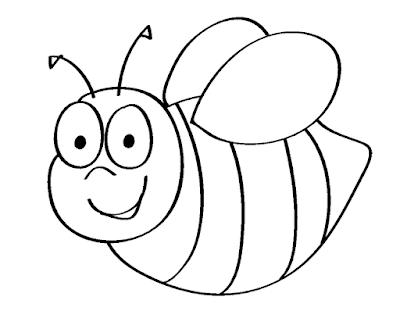 Gambar Mewarnai Lebah