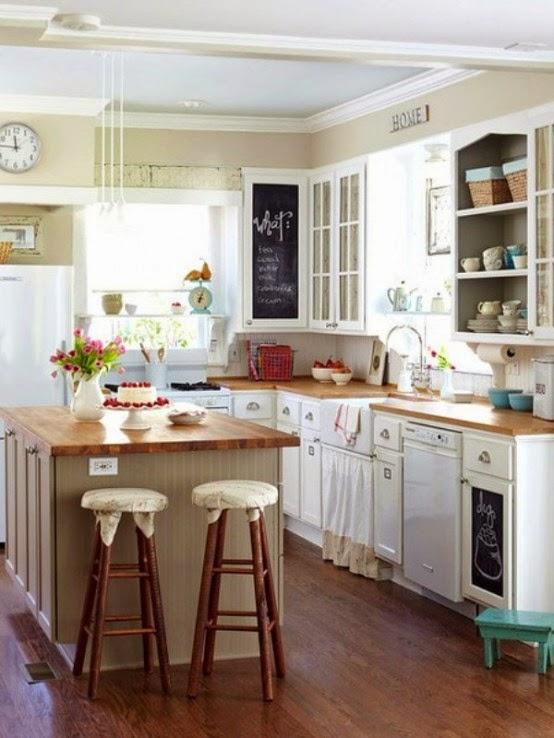 Cocina peque a con isla colores en casa - Isla cocina pequena ...