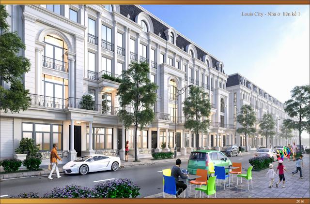 Mẫu thiết kế nhà Liền kề Louis City Đại Mỗ