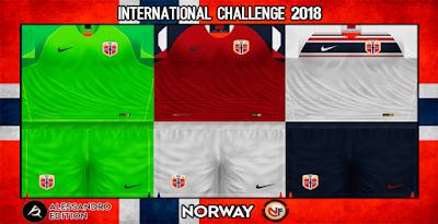PES 6 Kits Norway National Team Season 2018/2019 by Alessandro
