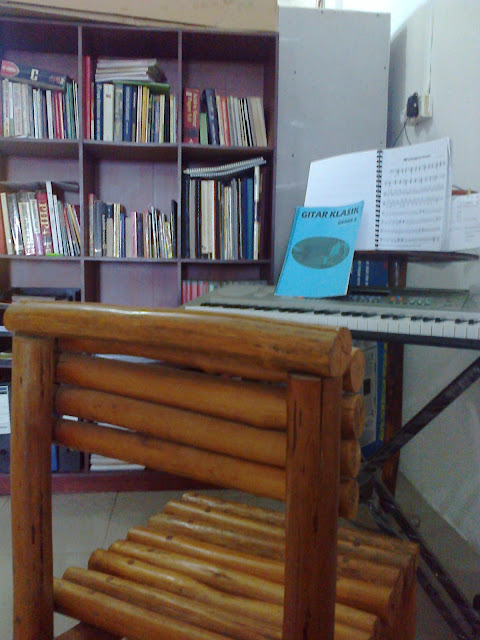My Books and Keyboard - Image: Author