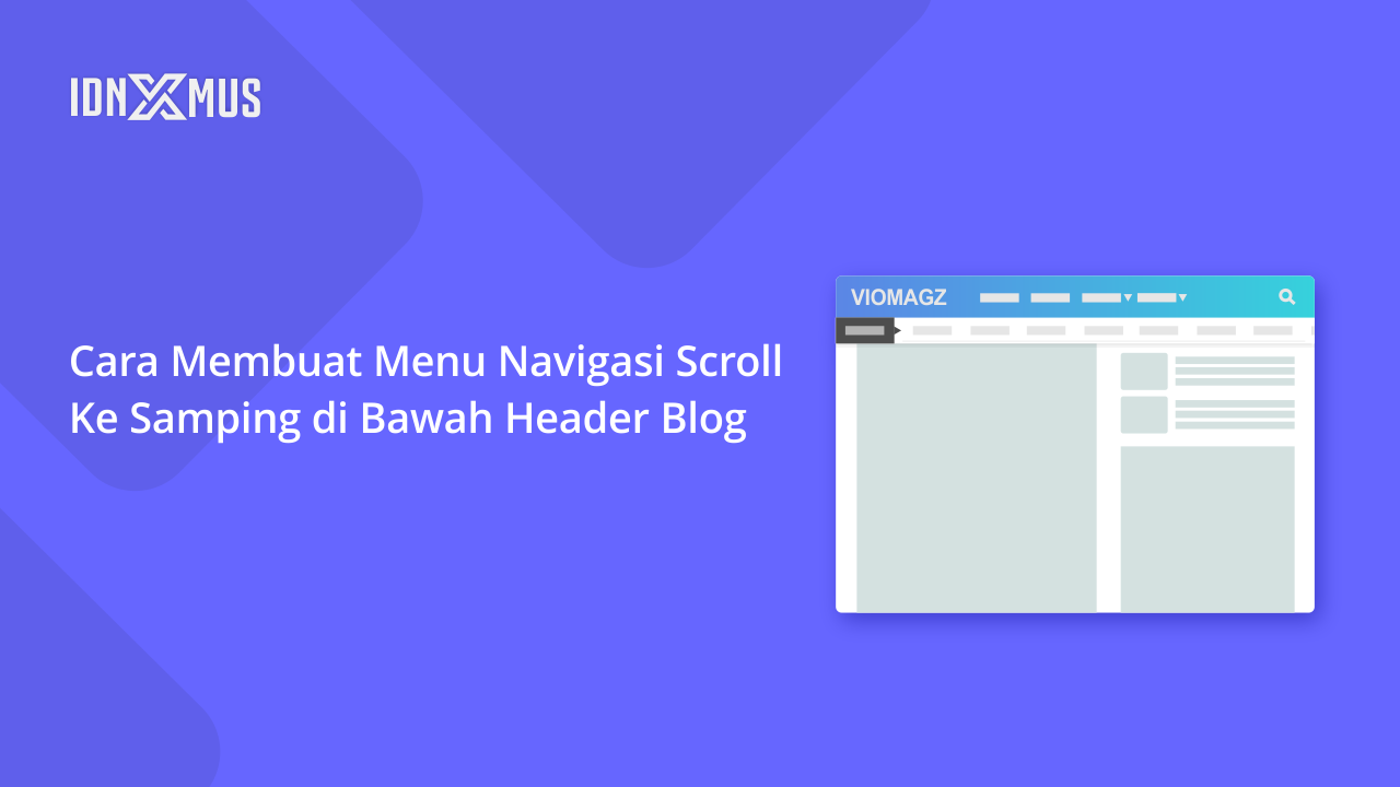 Menu Navigasi Scroll ke Samping Blog