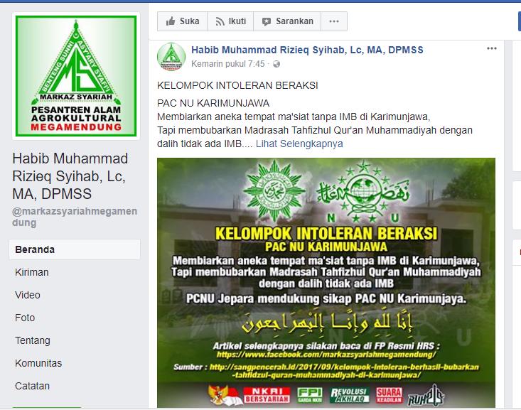 Meluruskan Tuduhan Fpi Dan Muhammadiyah Warga Nu Bubarkan Pesantren