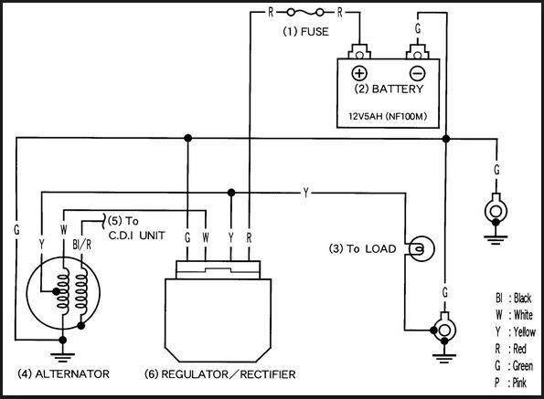 sistem pengisian sepeda motor (pengertian + diagram + cara ...  baterai diagram