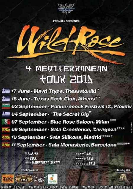 """WILD ROSE: Οι ημερομηνίες της  """"4 Mediterranean Tour"""""""