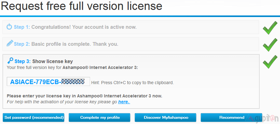Download Ashampoo Internet Accelerator 3 Full Legal License Key 2