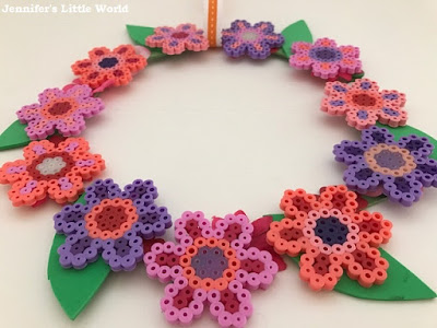 Hama bead flower wreath
