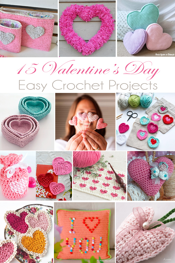 15 Valentine's Day easy crochet projects