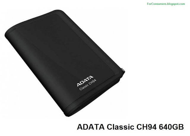 ADATA Classic CH94 640GB external hard drive price, specs and review